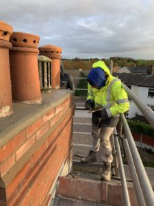 damp survey on a roof